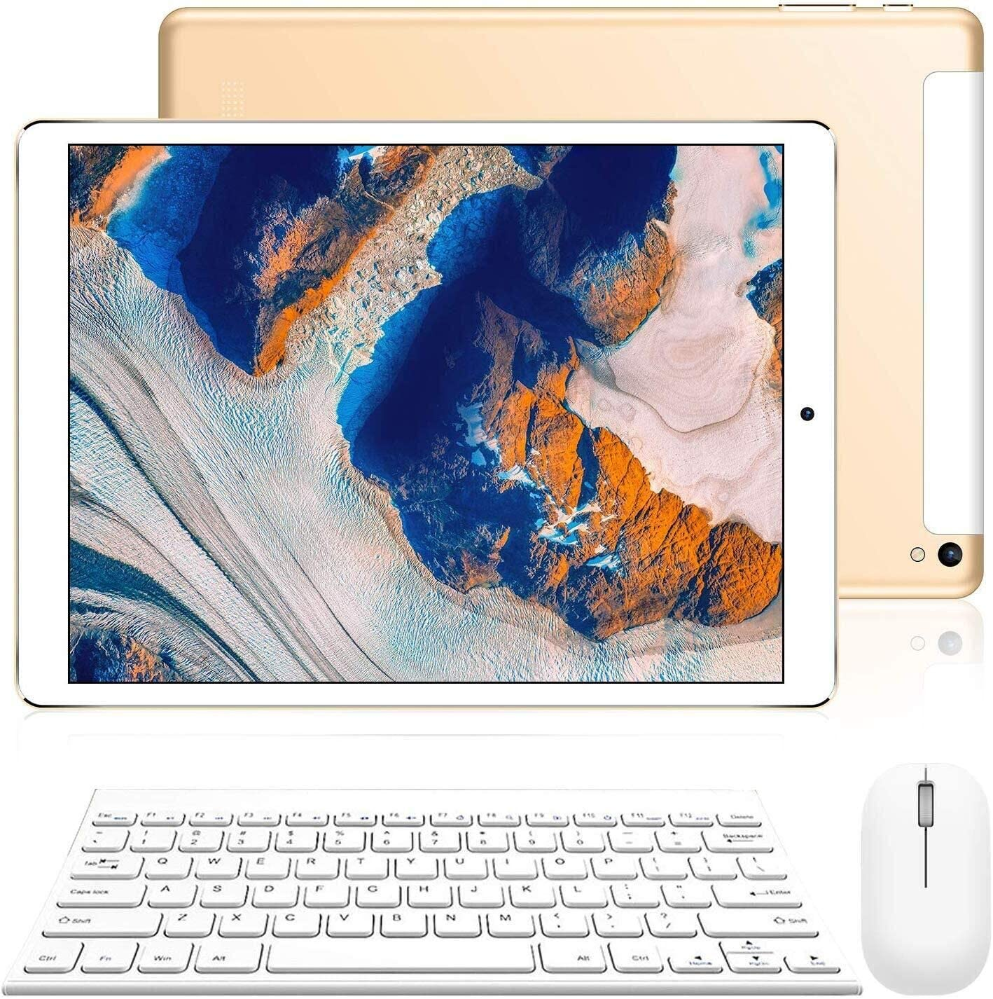 Tablet 10 Pulgadas Android 9.0 Ultrar-Rápido Tablets 3 GB RAM 32 GB/128GB ROM 4G Dual SIM/WiFi 8500mAh Batería Quad Core (GPS, Bluetooth, OTG, Netfilix,Type-C)-Certificación Google GMS