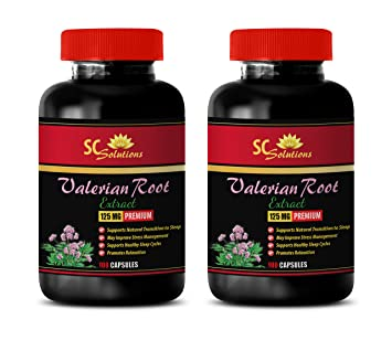 Blood Pressure Heart Rate - Valerian Root - Premium Extract 125MG - Valerian melatonin Sleep aid