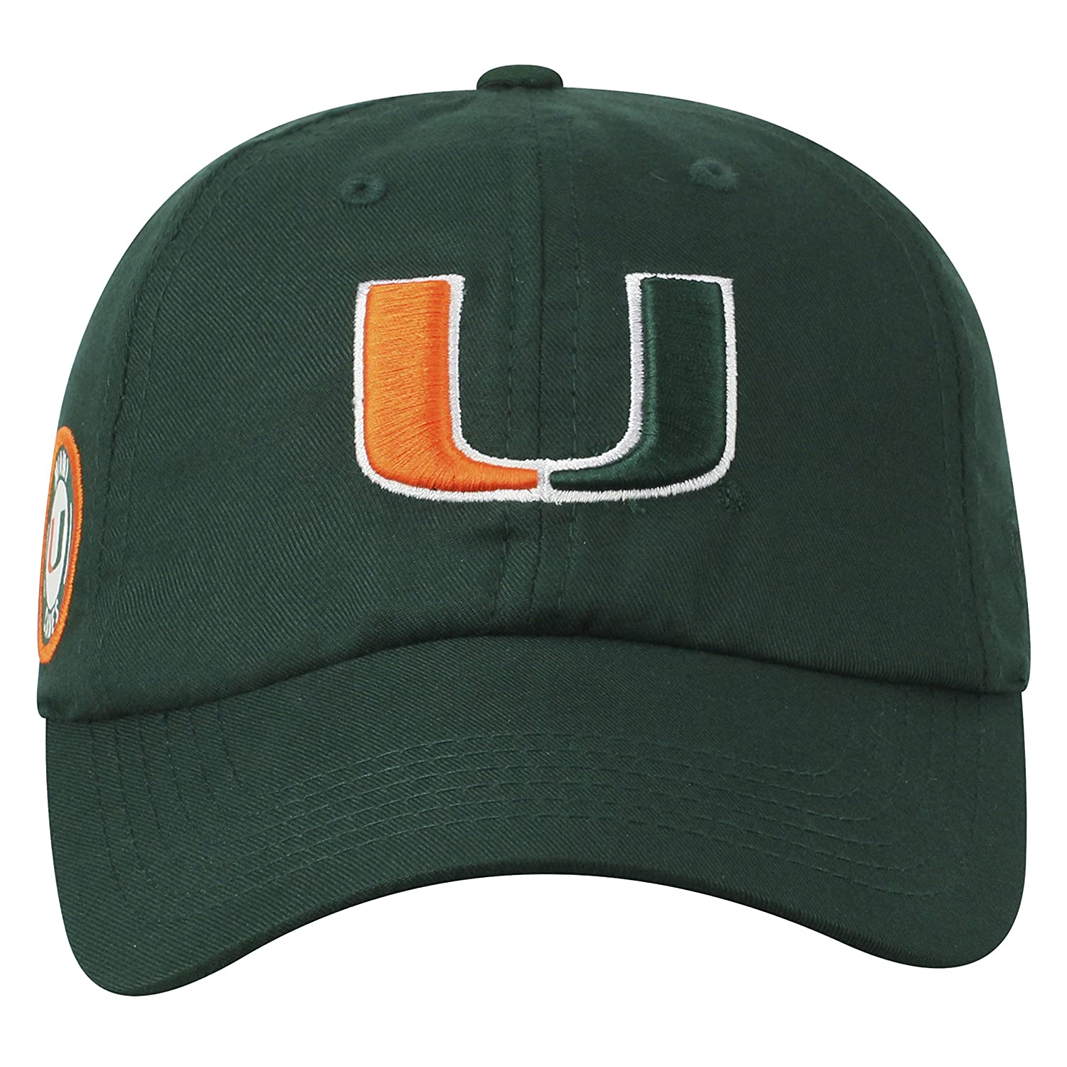 Top of the World Miami Hurricanes Official NCAA Adjustable Green Monsho Staple 4 Hat Cap 745442