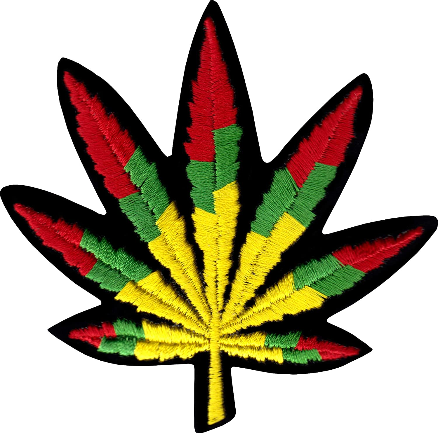 Rasta Tri-Colored Pot Leaf - Sew Or Iron On Patch 1-PTR-19054