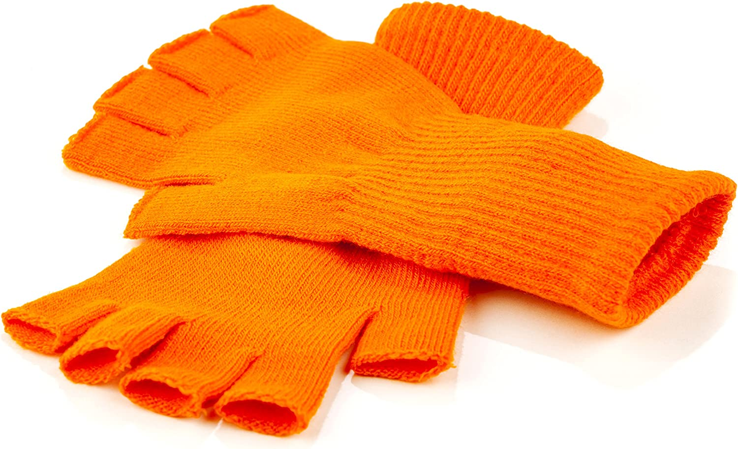 Funny Guy Mugs Warm Stretchy Knit Fingerless Gloves for Women and Men, Multiple Colors Available, One Size Fits Most