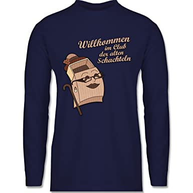 Shirtracer Geburtstag - Willkommen im Club der alten Schachteln - Herren  Langarmshirt: Shirtracer: Amazon.de: Bekleidung