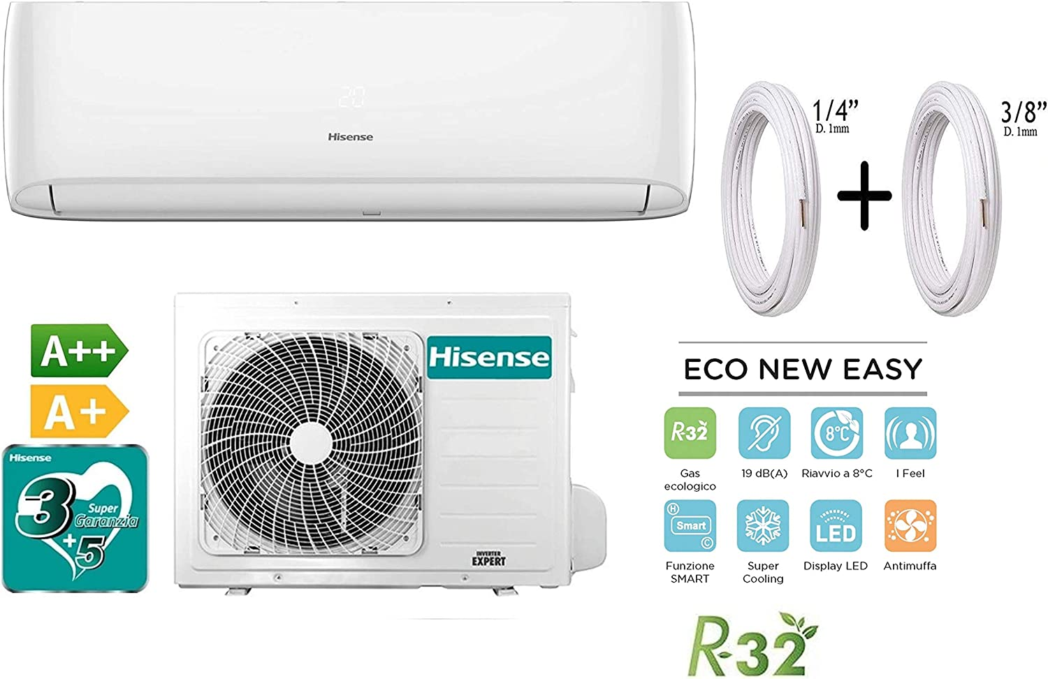 Hisense Kit Aire Acondicionado Climatizador Eco New Easy Inverter ...