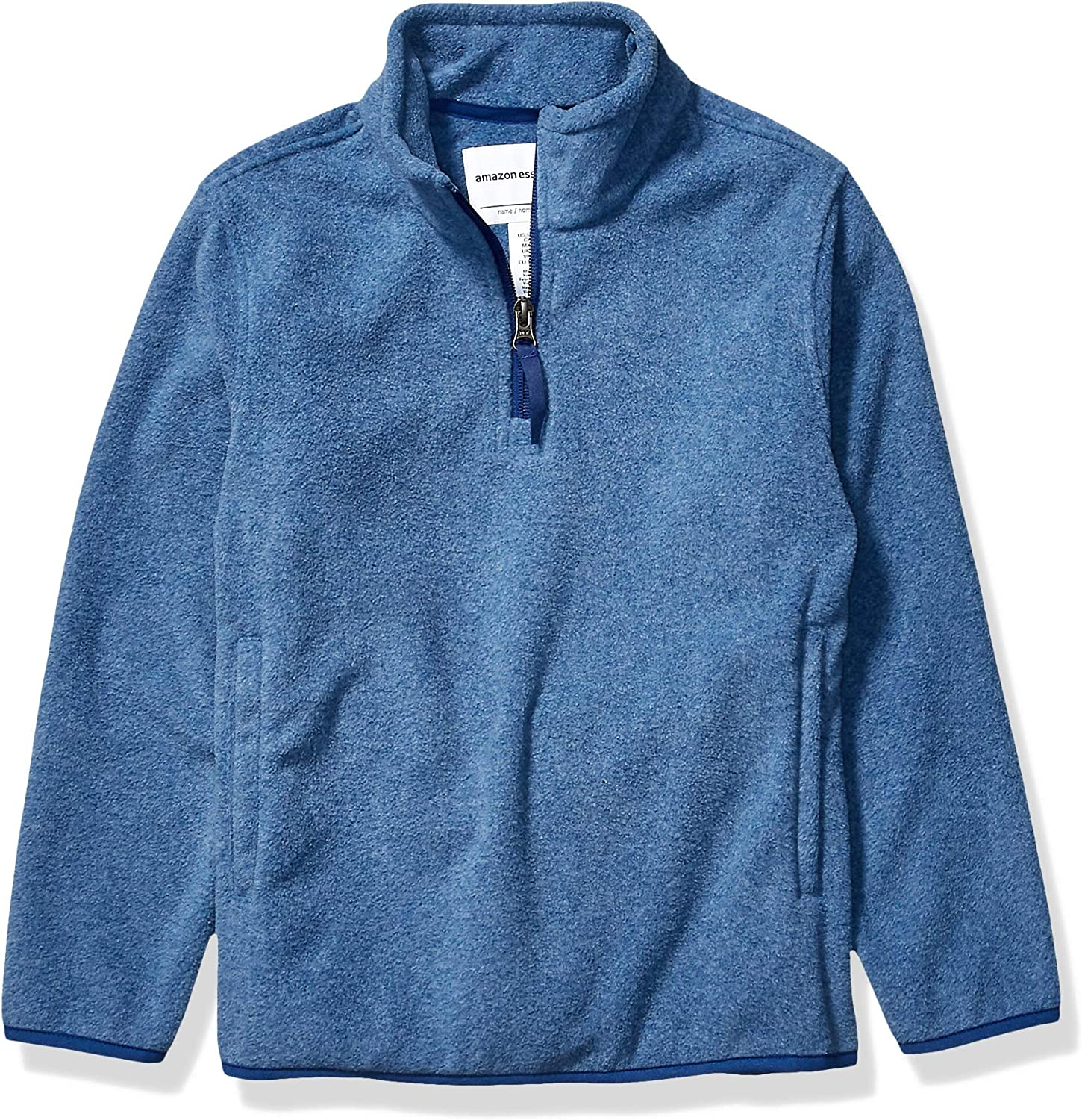 Essentials Boys Polar Fleece Quarter-Zip Pullover Jackets: Clothing