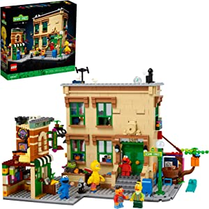 LEGO Ideas 123 Sesame Street 21324 Building Kit; Awesome Build-and-Display Model for Adults Featuring Elmo, Cookie Monster, Oscar The Grouch, Bert, Ernie and Big Bird, New 2021 (1,367 Pieces)