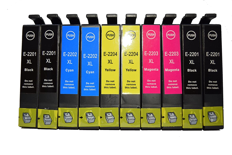 Generic - Cartuchos de tinta compatibles 10 Pk T220 220 ...