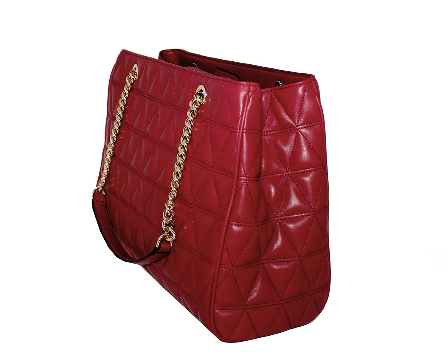 352e3697c40d MICHAEL Michael Kors Women s Susannah Large Tote Soft Leather Handbag ( Cherry)  Handbags  Amazon.com