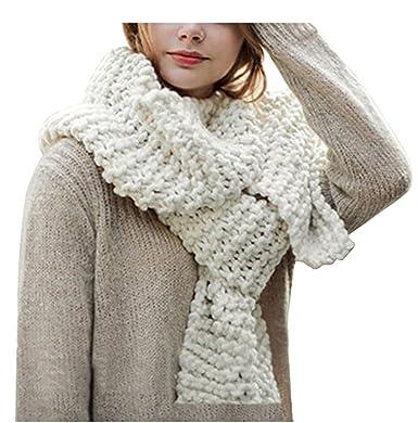 2a15f4409df WLITTLE Écharpe Femme Chaud Tricot Foulard Hiver Automne Mohair laine douce  chaude Vogue Wrap châle Plaid