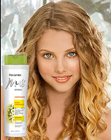 MUSS BOTANIKA RUBIO LUMINOSO ACONDICIONADOR / Conditioner for blonde hair with chamomille, keratin and Biotin