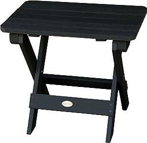Highwood AD-TBS1-BKE Adirondack Folding Side Table, Black