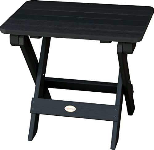 Highwood AD-TBS1-BKE Adirondack Folding Side Table
