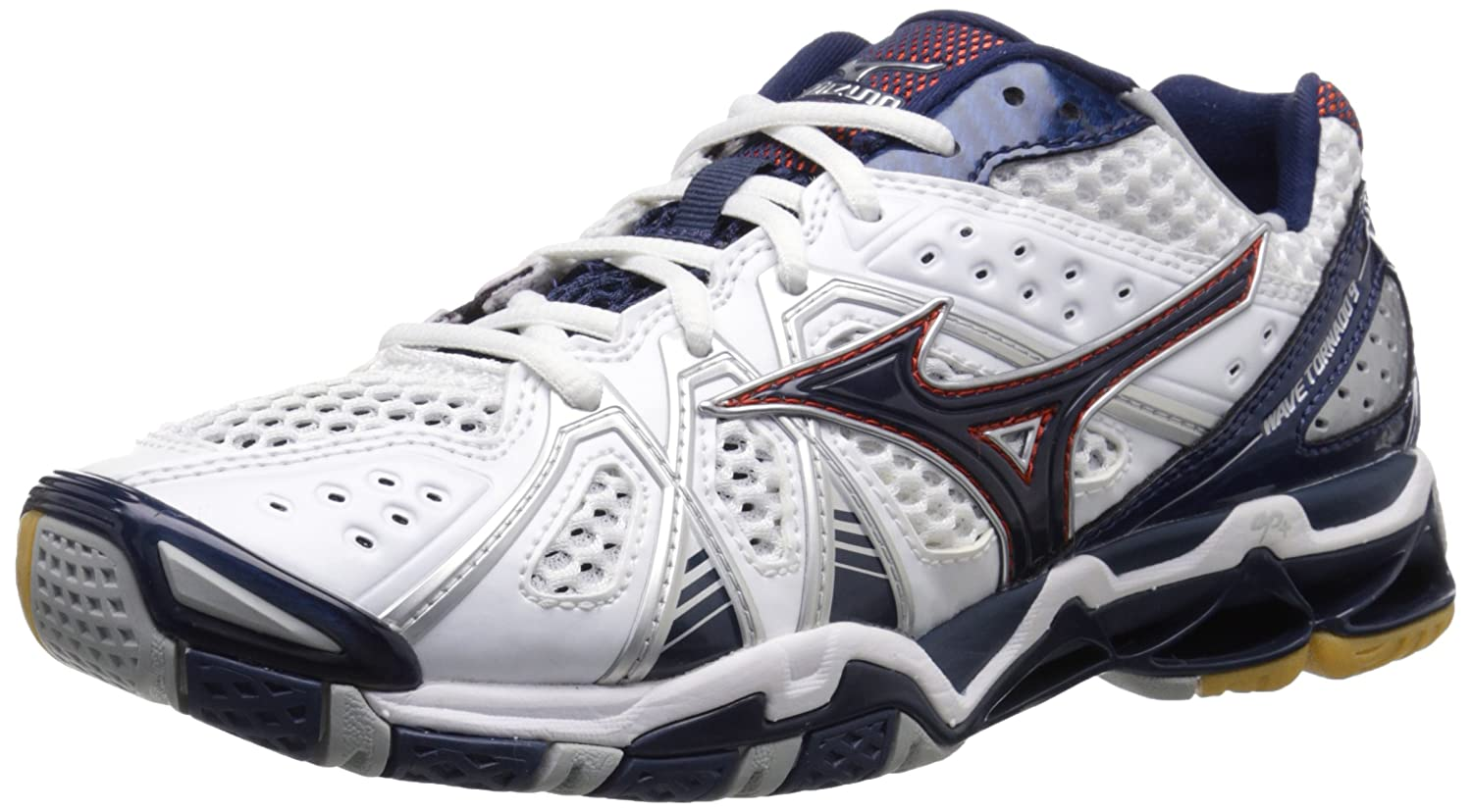 Mizuno Men's Wave Tornado 9 Wh-ny Volleyball Shoe Mizuno USA WAVE TORNADO 9 MENS WH-NY-M