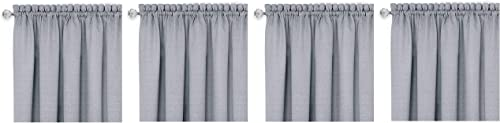 Achim Home Furnishings, Grey White DRVL14GW12 Darcy Window Curtain Valance, 58 x 14 F ur k