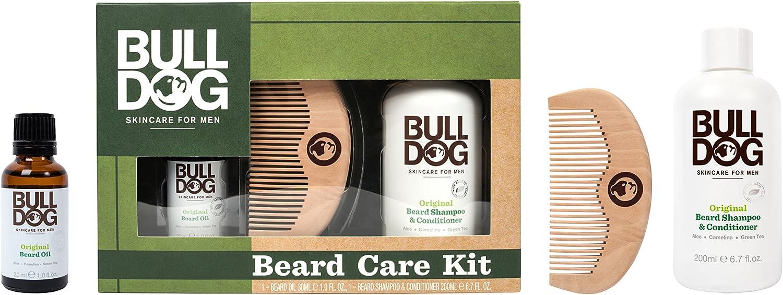 Bulldog Skincare for Men Pack - Kit Cuidado Barba, Aceite Barba + Champú y Acondicionador Barba + Peine