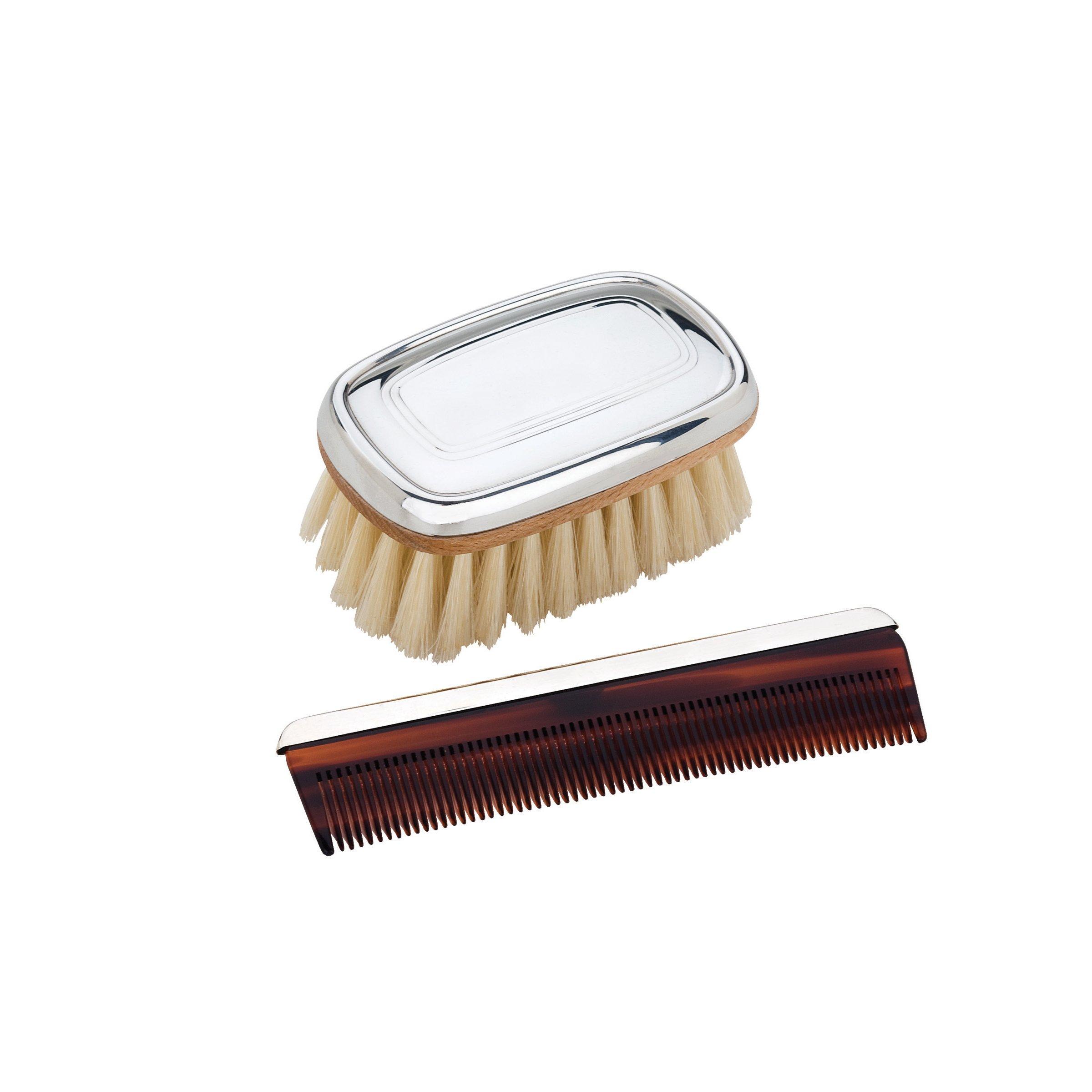 Reed & Barton Pewter Brush and Comb Set, Kent Boy's