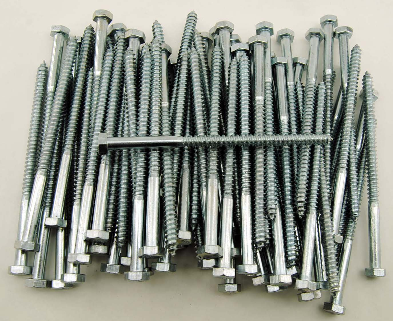 (75) Hex Head 5/16 x 5-1/2' Lag Bolts Zinc Plate Wood Screws Lexar Industrial