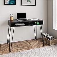 Novogratz Athena Computer Storage, Black Marble Desk