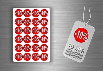 78304b7783d97d Lot etiquette sticker autocollant promotion soldes magasin promotion - -10%  / x 96