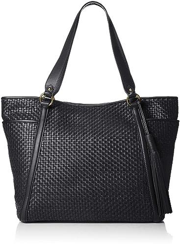 d167a7811e Amazon.com  Cole Haan Women s Gabriella Soft Weave Tote Black 1 One ...