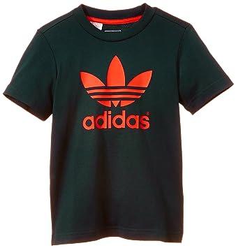 adidas Trefoil T-Shirt à Manches Courtes Garçon Petrol Ink S15 St Red FR efd0e4c714d