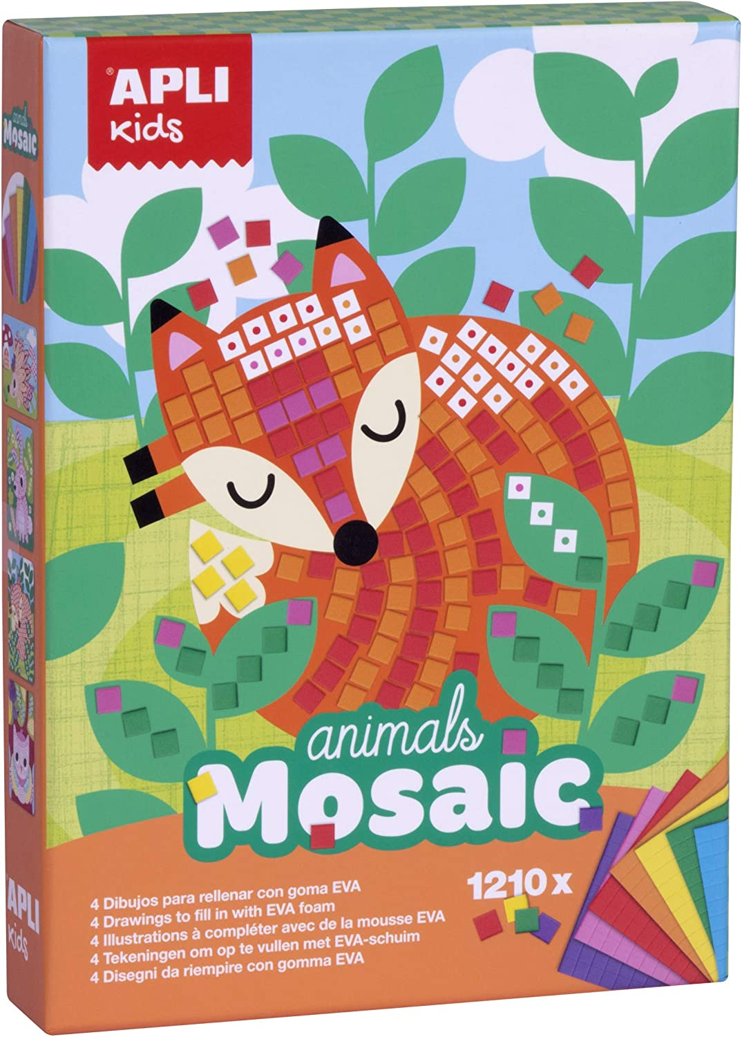2-Piece APLI Apli14289 Animals Eva Foam Mosaic Box Kit