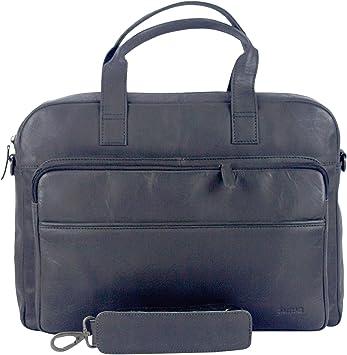 Sunsa Herren Leder 15 Zoll Laptop Tasche Business Aktentasche Schwarz Groß Handtasche Ledertasche Notebooktasche Laptoptasche Umhängetasche Vintage Arbeitstasche Crossbody Männer Geschenke Koffer Rucksäcke Taschen