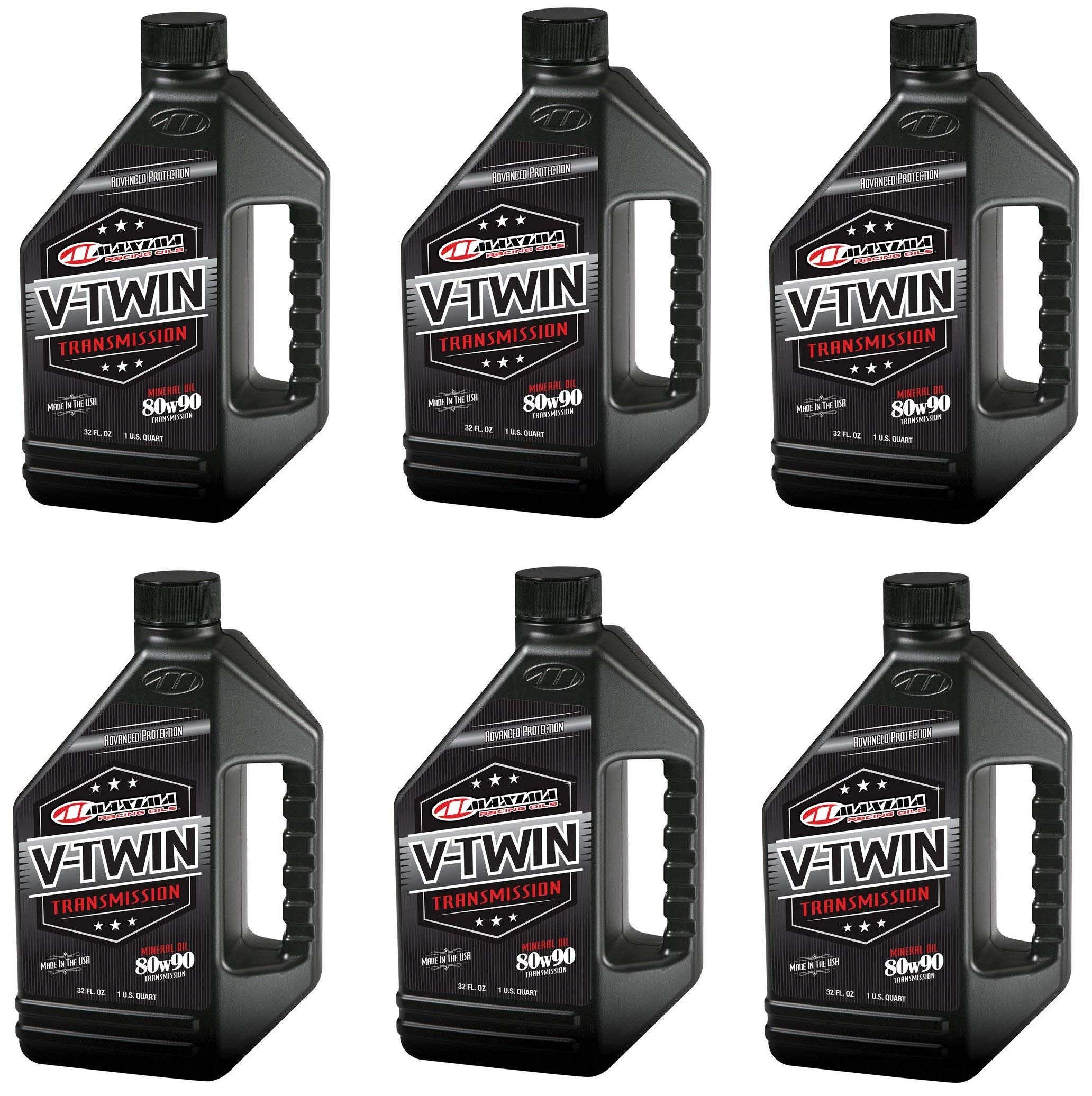 Maxima Racing Oils 40-02901 80w90 V-Twin Transmission/Gear Oil - 32 fl. oz. (32 Ounces (pack of 6))