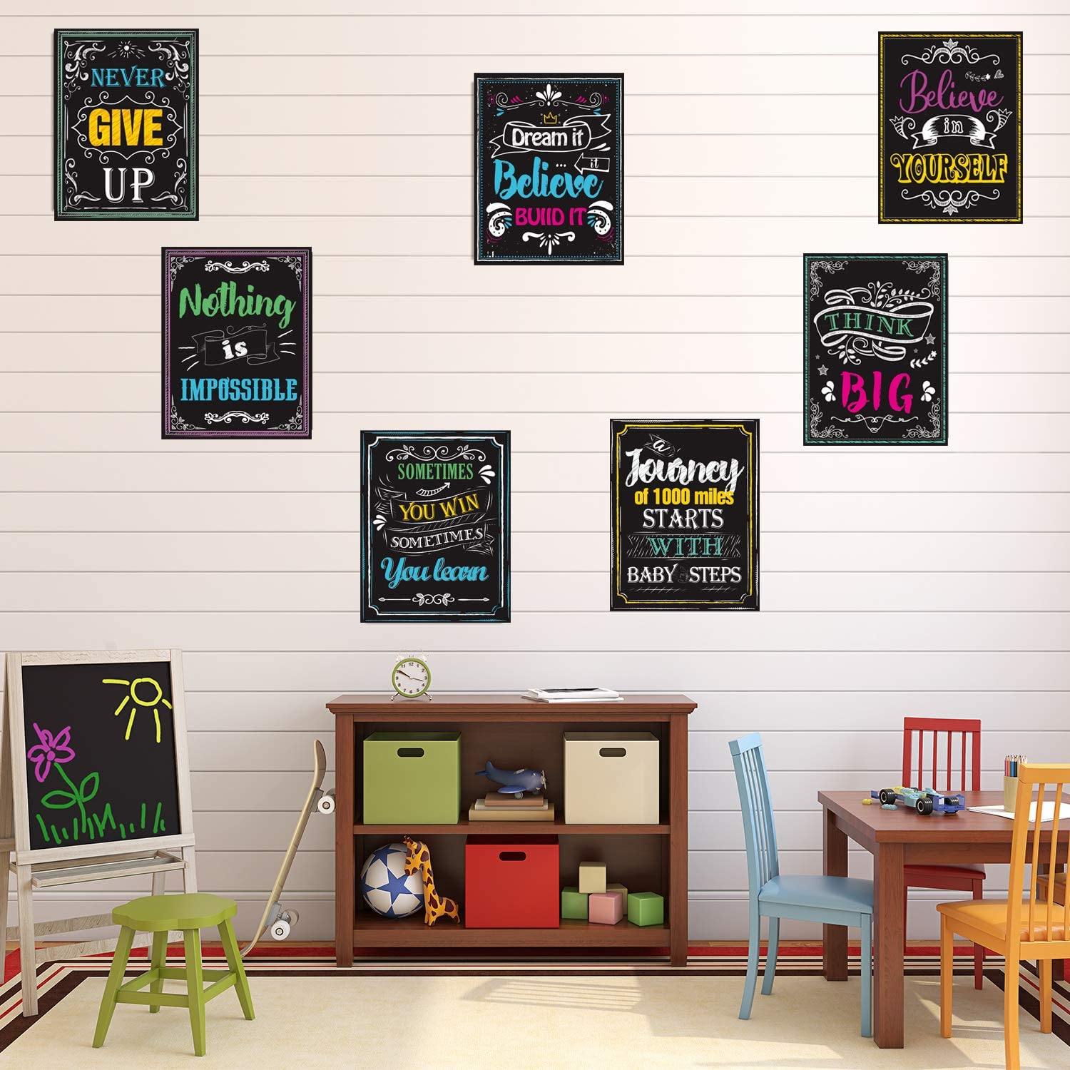 Inspirational Quotes Posters Wall Art for Students Teachers Classroom /& Home Decorations 12 x 14 Inches 10 Pack Style 1 Motivational Posters for Classroom