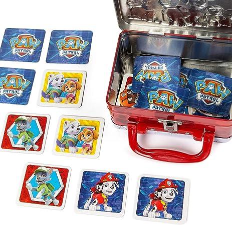 Paw Patrol Memory Match Mini Tin Cardinal Games Multicolor