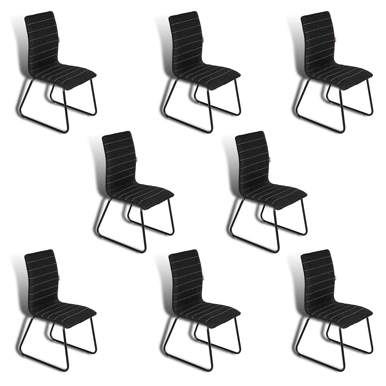 Estexo 8 Esszimmerstuhle Stuhle Schwarz Kuchenstuhle Stuhle