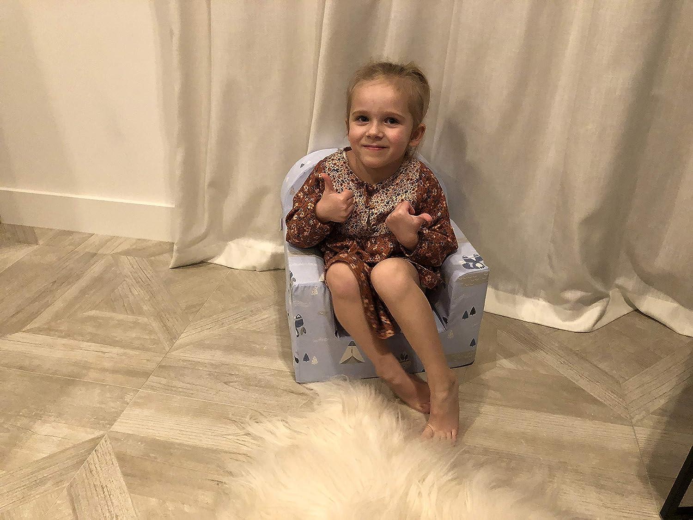 miwido Mini Poltrona per Bambini Blu - Teepee Molto Leggera Liocorno Poltrona Decorativa per Bambini