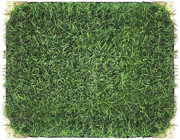 Artificial Grass Turf Fake Lawn Realistic Natural Green Garden Decoration DIY .
