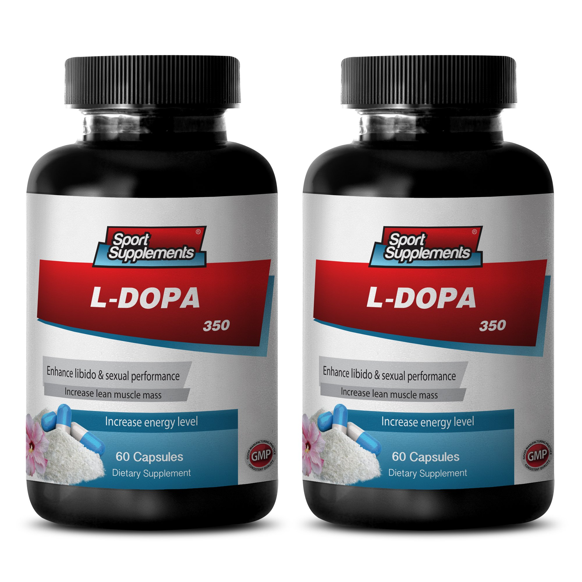 Mood booster supplements - L-DOPA (MUCUNA PRURIENS EXTRACT) 350 Mg - l-dopa now - 2 Bottles 120 Capsules