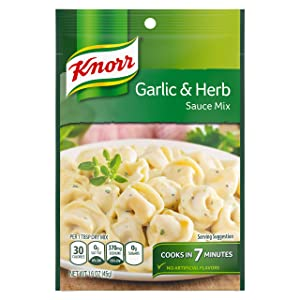 Knorr Sauce Mix Creamy Pasta Sauce For Simple Meals and Sides Garlic and Herb No Artificial Flavors 1.6 oz, Pack of 24