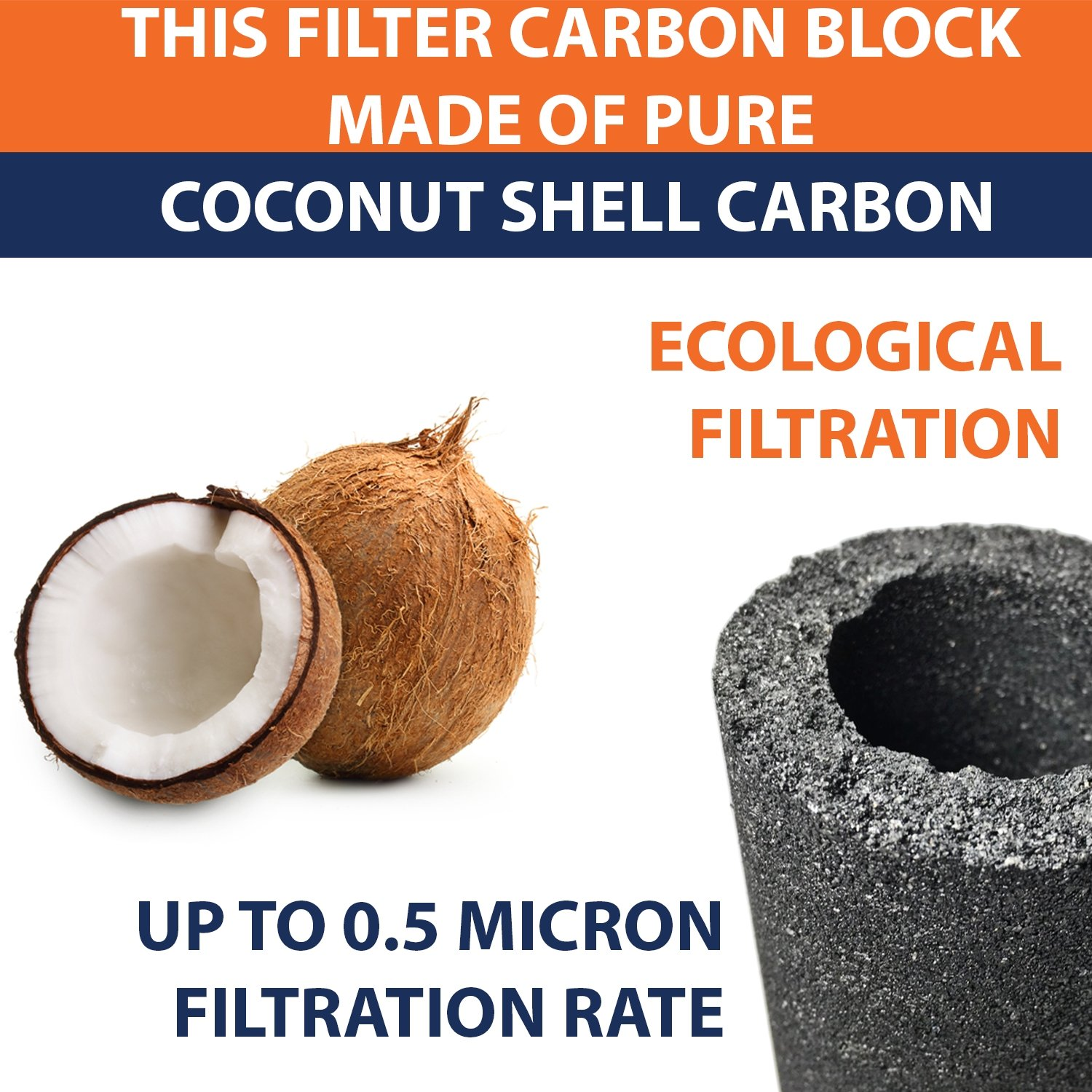 Aquaboon 6-PACK Of 5 Micron Carbon Block CTO Coconut Shell Water Filter Cartridge 10'' by by Aquaboon (Image #8)