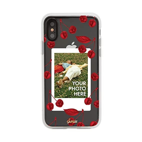 quality design 0a5be 229ec iPhone Xs, iPhone X, Sonix Cherry Photo Frame Case Cell Phone Case  [Military Drop Test Certified] Protective Clear Polaroid Picture Case  Series for ...