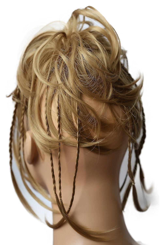 PRETTYSHOP XXL Haarteil Haargummi Hochsteckfrisuren, Brautfrisuren, VOLUMINÖS, gewellter unordentlicher Duttblond mix #27BT88 G13Dhonigblond #26 G12D VOLUMINÖS