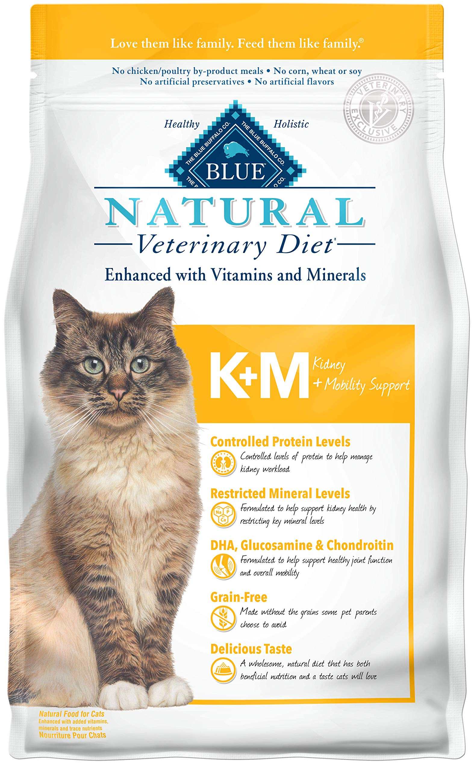 Blue Buffalo Natural Veterinary Diet Kidney + Mobility Support for Cats 7lbs by Blue Buffalo Natural Veterinary Diet