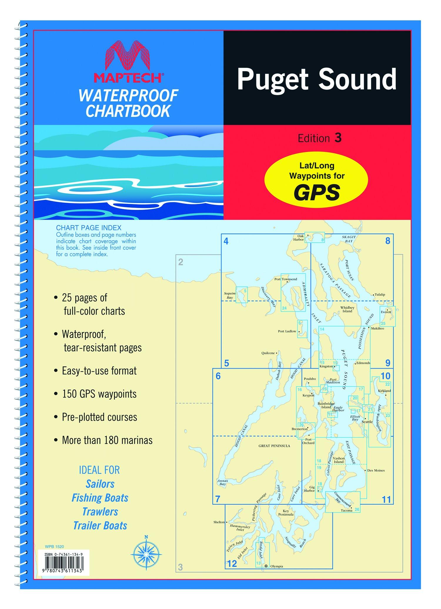Maptech Puget Sound Waterproof Chartbook 3rd Edition
