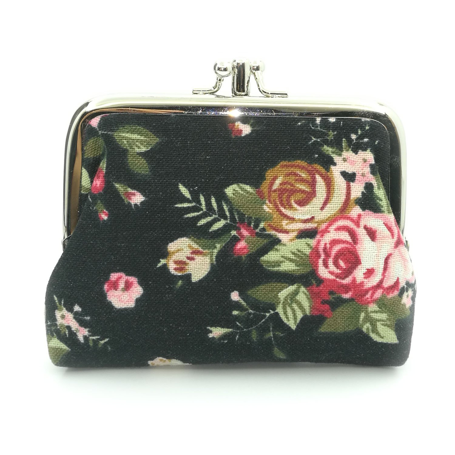 Amazon.com: Cute Floral Buckle Coin Purses