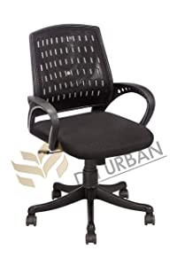 Da URBAN Designer Mesh High Back ISO and BIFMA Certified Revolving Chair with 5 Wheels (Black)