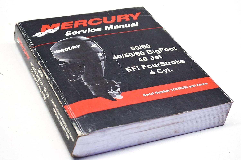 Mercury 90-899975 Service Manual 50/60 HP 40-60HP BigFoot 40HP Jet 4-Stroke  QTY 1, Engine - Amazon Canada