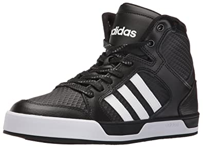 adidas Originals Men's Raleigh Mid Fashion Sneakers, Black/White/Black, (9.5