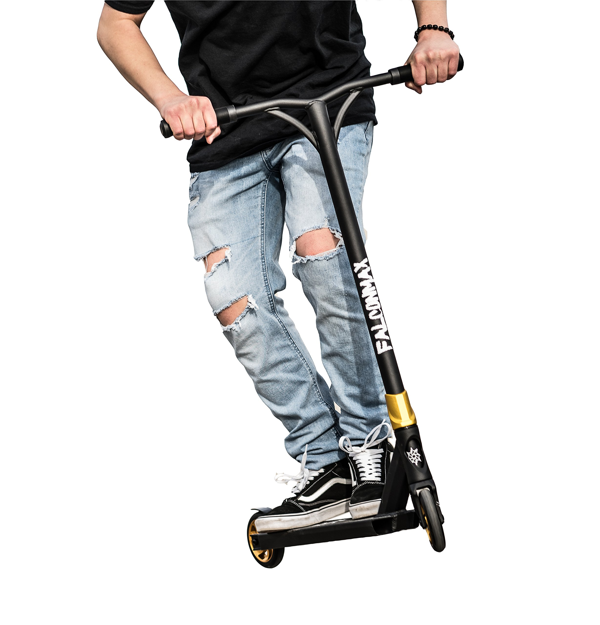 Pro Trick Scooter for Beginner Kids To Advanced Adults | Freestyle BMX Stunt Scooter | Wheels For Any Terrain| Lightweight and Reinforced Deck with Ultra-Grip Tap | Handlebars with TPR Fasen Grips by INDUXPERT