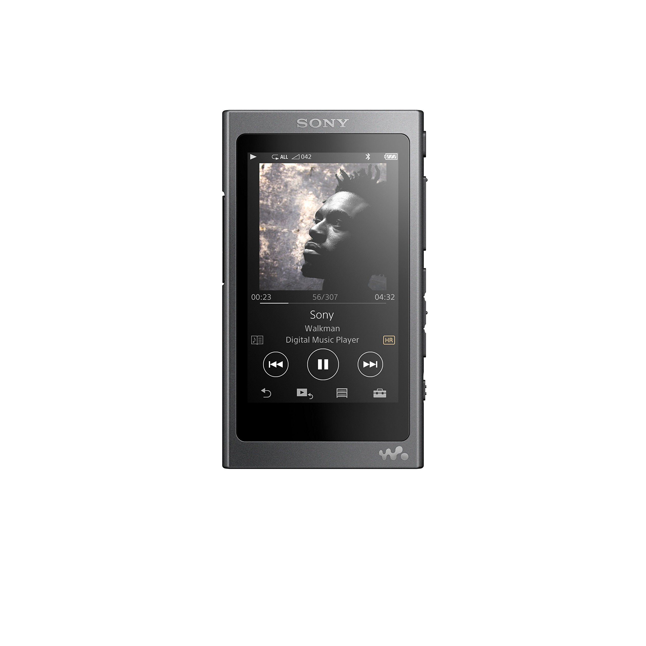 Sony NW-A35 16GB Walkman - Digital Music Player with Hi-Res Audio, Charcoal Black (2017 model) by Sony