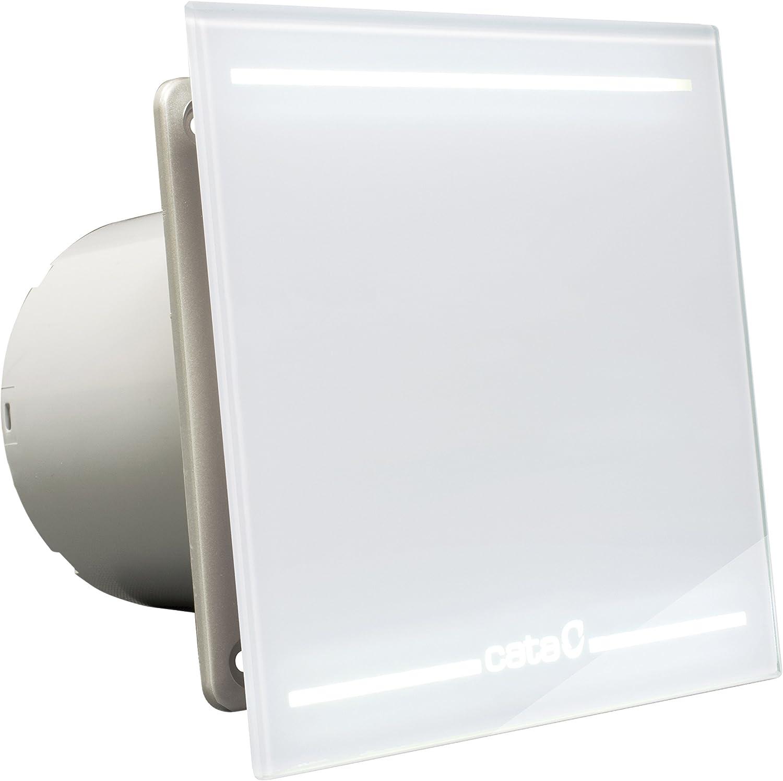 Cata | Extractor baño | Modelo e- 100 Gth BK | Estractor de baño Serie e Glass | Ventilador Extractores de aire | Extractor baño silencioso | Extractor aire para baño | 6 unidades: Amazon.es: Salud y cuidado personal