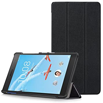 free shipping a61f3 4ae02 Lenovo Tab 7 Essential Case - Ultra Slim Lightweight Smart Shell Stand  Cover for Lenovo Tab 7 Essential 7-Inch Android Tablet 2017 Release, Black  (NOT ...