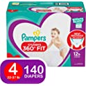 Pampers 140 Ct Cruisers 360 Disposable Diapers with Stretchy Waistband