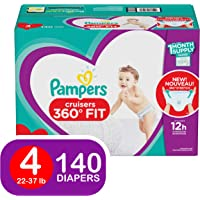 Pampers Size 4 140 Count Cruisers 360 Disposable Diapers with Stretchy Waistband