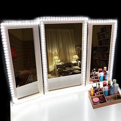 LED Vanity Mirror Lights Kit, 16.4ft/5M 300 LEDs 6000K Daylight ...
